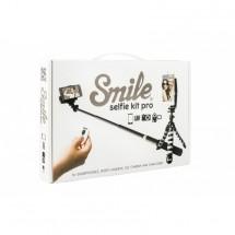 Smile Selfie sada do rukou,kov/plast,černá