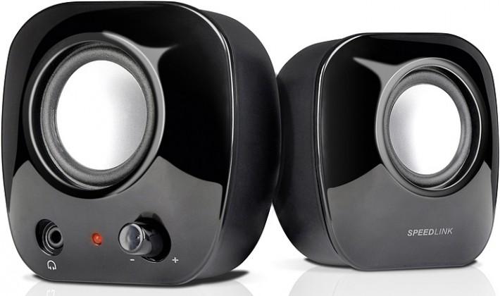 SNAPPY Stereo Speakers SL8003SBK, black