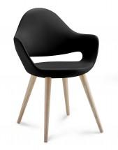 Soft-l - Jídelní židle (černá) - II. jakost