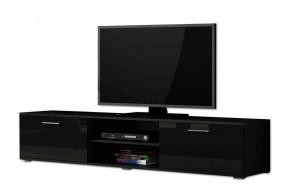 Soho - TV komoda (černý mat / černá vysoký lesk, RTV '180' )