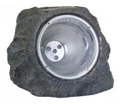 Solární lampa, kámen (šedá)