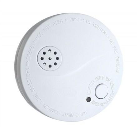 Solight detektor kouře + alarm, 85dB, bílý + 9V baterie 1D33