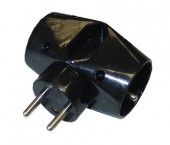 Solight rozbočka P92, 2,5A + 2x 10A, černá