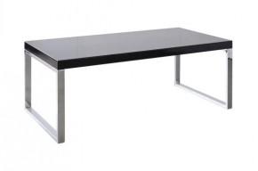 Solveo - konferenční stolek (černá, chromové nožičky)