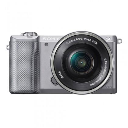 Sony Alpha 5000 stříbrný + objektiv 16-50mm (ILCE5000LB.CEC)