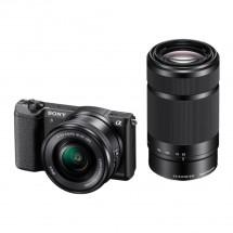 Sony Alpha A5100, 16-50mm + 55 -210 mm , Black (ILCE5100YB.CEC)