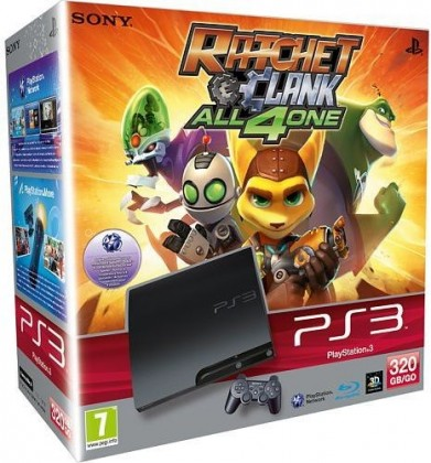 Sony PlayStation 3 - 320GB + Ratchet & Clank: All 4 One