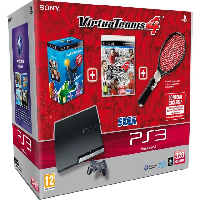Sony Playstation 3 320GB+Virtua Tennis 4+Move pack (PS719118299)