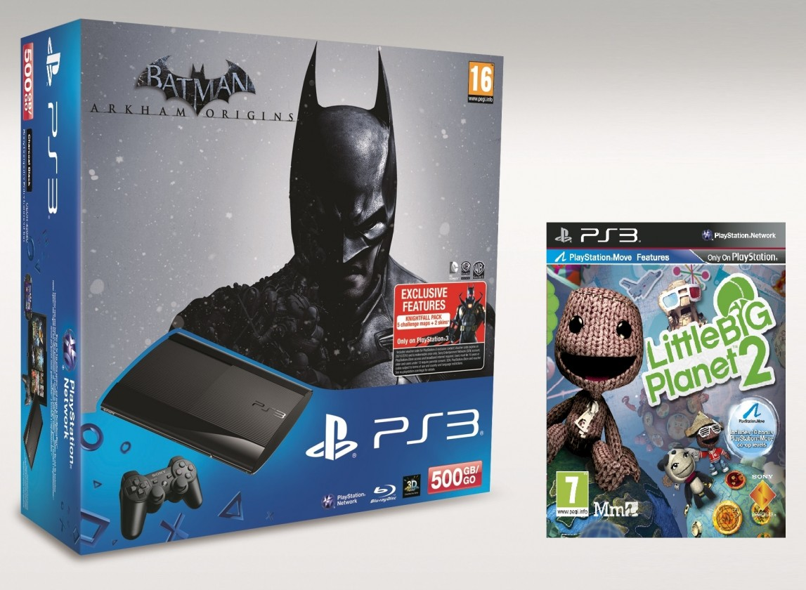 SONY PlayStation 3 - 500GB + Batman Arkham Origins + LBP 2
