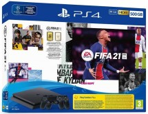 SONY PlayStation 4 500GB - černý + FIFA21 + 2x DualShock
