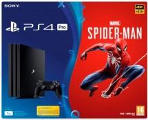 SONY PlayStation 4 Pro 1TB-černý-Gamma chassis+Spiderman
