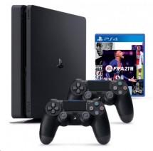 SONY PlayStation 4 Pro 500GB - černý + FIFA21 + 2x DualShock