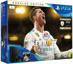 Sony PlayStation 4 Slim 1TB + FIFA 18 Ronaldo Edition + PS Plus