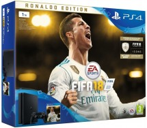 Sony PlayStation 4 Slim 1TB + FIFA 18 Ronaldo Edition + PS Plus