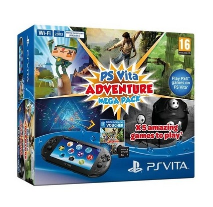 Sony PS Vita WiFi + Adventure Mega balení + 8GB paměťová karta