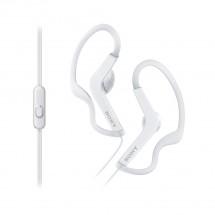 SONY sluchátka ACTIVE, handsfree, bílé, MDRAS210APW.CE7