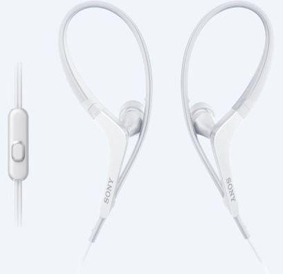 SONY sluchátka ACTIVE, handsfree, bílé, MDRAS410APW.CE7