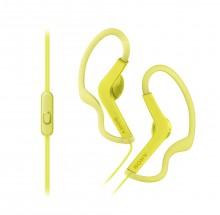 SONY sluchátka ACTIVE, handsfree, žluté, MDRAS210APY.CE7