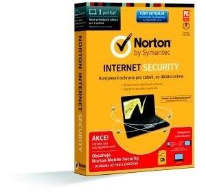 SPECIAL BUNDLE NORTON INTERNET SECURITY 2014 CZ 1 PC + MOBILE SEC