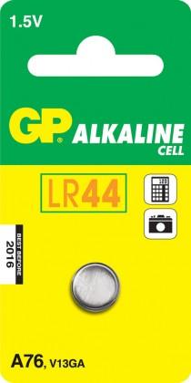 Speciální baterie Alkalická knoflíková baterie GP LR44 (A76F), 1 ks v blistru