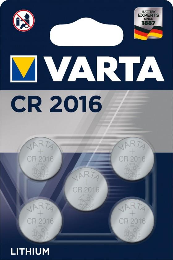 Speciální baterie Baterie Varta CR 2016 5ks