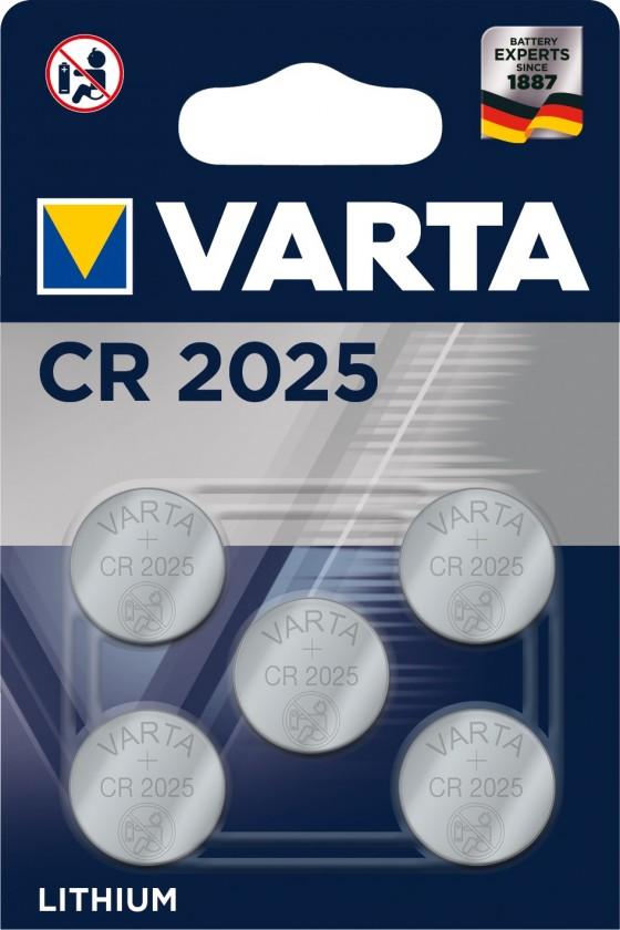 Speciální baterie Baterie Varta CR2025 5ks