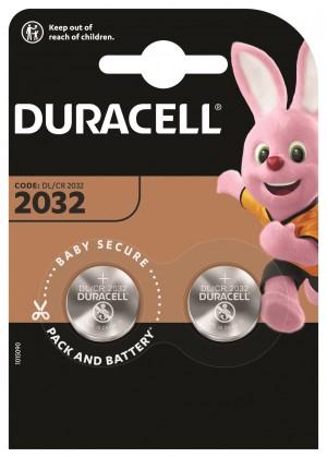 Speciální baterie Knoflíková baterie Duracell DL 2032 B2 CR2032, 2ks