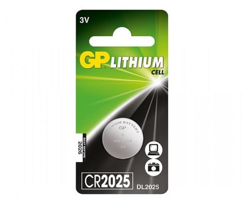 Speciální baterie Lithiová knoflíková baterie GP CR2025, 1 ks v blistru
