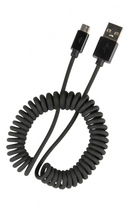 SpeedLink PECOS SPIRAL Micro USB Charging Cable, black