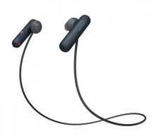 Sportovní bezdrátová sluchátka Sony WI-SP500B, černá