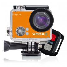 Sportovní kamera Niceboy VEGA 4K Orange + dálkové ovládání , plovoucí držák a flexi stativ Niceboy