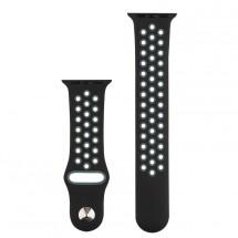 Sportovní řemínek pro Apple watch 38/40 mm, černo/šedá