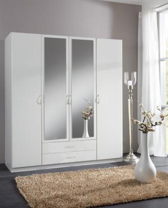 Sprint - skříň 180 cm,4x dveře,2x zrcadlo (alpská bílá)