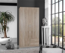 Sprint - skříň 90 cm,2x dveře,2x zásuvka (dub hrubá struktura)