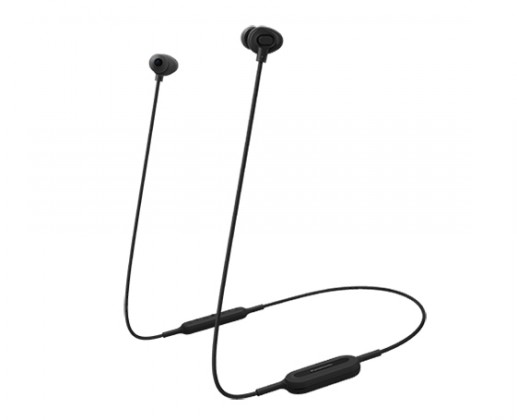 Špuntová sluchátka bezdrátová sluchátka panasonic rp-nj310be-k, černá Panasonic