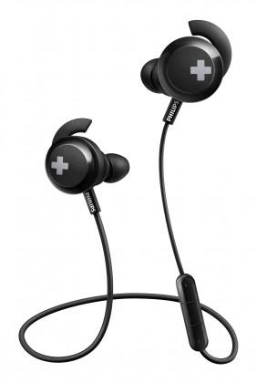 Špuntová sluchátka bezdrátová sluchátka philips shb4305bk, černá Philips