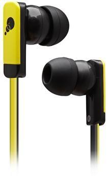 Špuntová sluchátka Cygnett Razor II, Sluchátka with ribbon cable - Yellow\ B