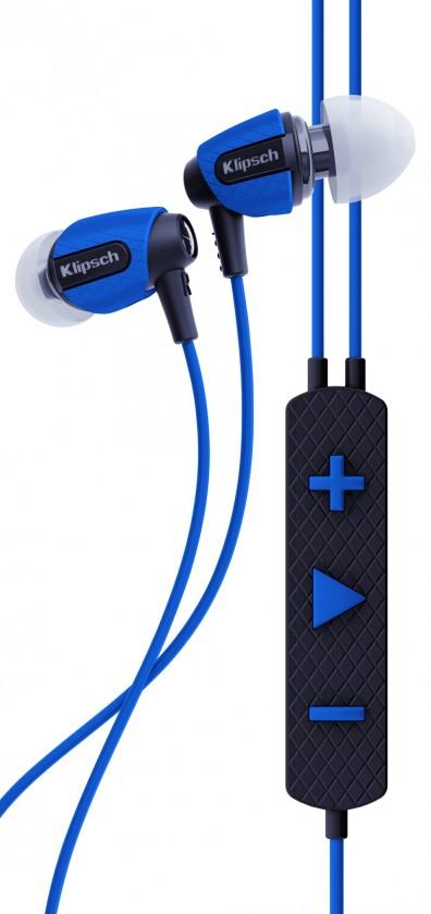 Špuntová sluchátka Klipsch Image S4i Rugged - modrá