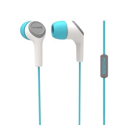 Špuntová sluchátka Koss KEB15I TEAL (dožívotní záruka)