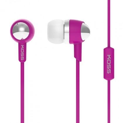 Špuntová sluchátka Koss KEB30I PINK (dožívotní záruka)