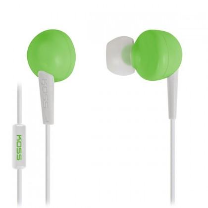 Špuntová sluchátka Koss KEB6I GREEN (dožívotní záruka)