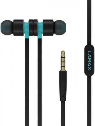 Špuntová sluchátka LAMAX Spire1 - černá  sluchátka do uší s mikrofonem  1.2m