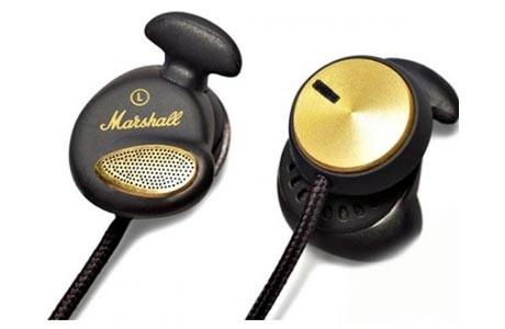 Špuntová sluchátka MARSHALL Minor Black  ROZBALENO