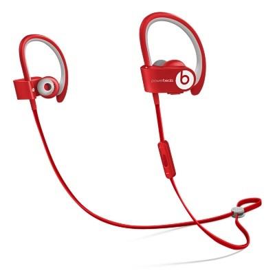 Špuntová sluchátka Powerbeats 2 Wireless, červená - MHBF2ZM/A