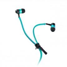 Špuntová sluchátka se zipem Forever, modrá