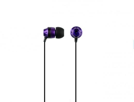 Špuntová sluchátka Skullcandy, INK'D SC, purpurová/černá