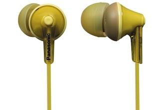 Špuntová sluchátka Sluchátka do uší Panasonic RP-HJE125E-Y, žlutá