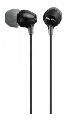 Špuntová sluchátka Sluchátka do uší Sony MDR-EX15LP, černá