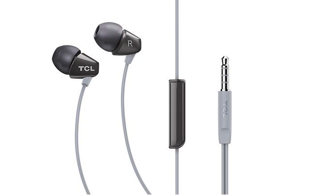 Špuntová sluchátka Sluchátka do uší TCL SOCL100BK, černá
