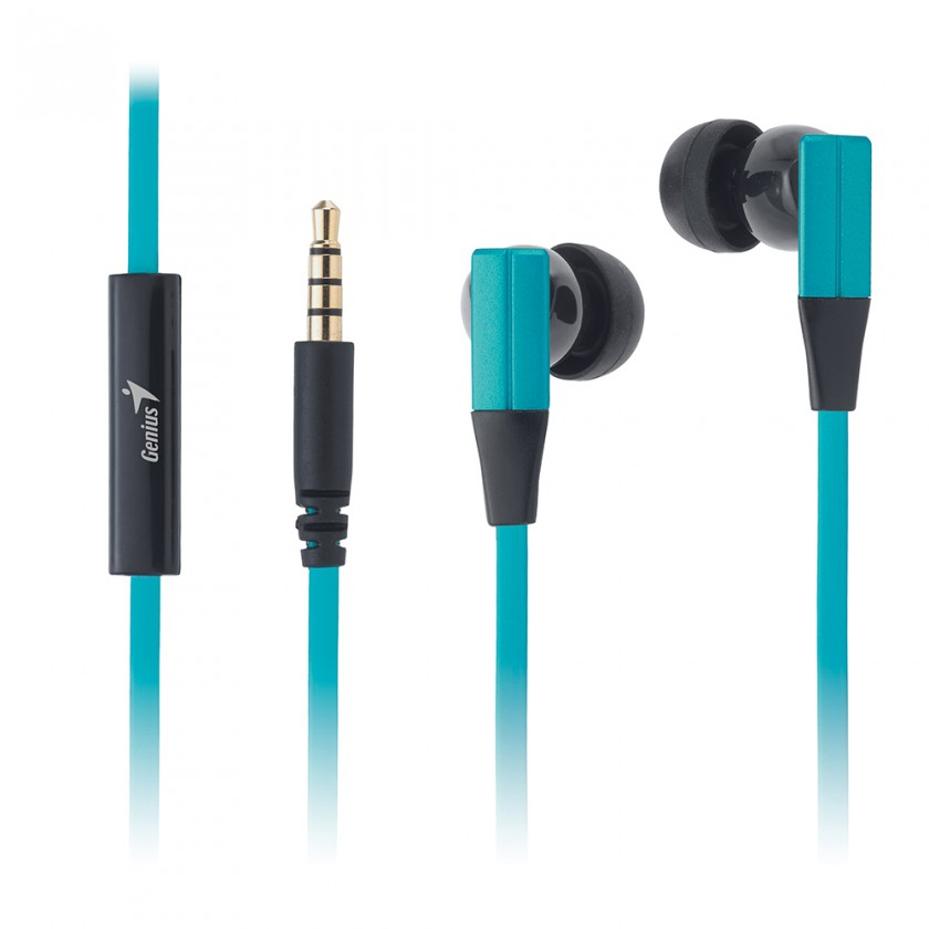 Špuntová sluchátka Sluchátka Genius HS-M230  mobile headset,turquoise